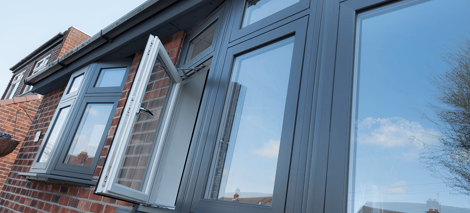modern pvc windows in black