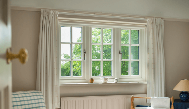 classic white pvc window