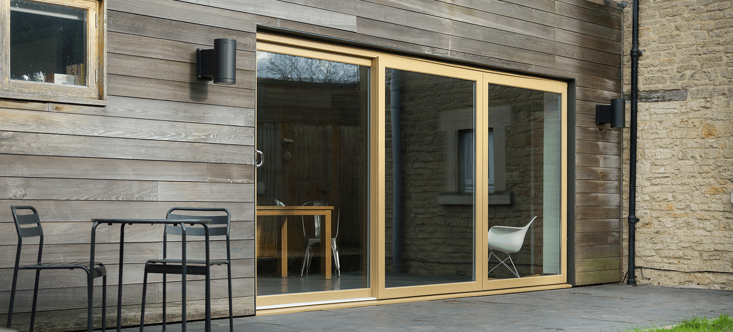 Wooden pvc colour sliding door