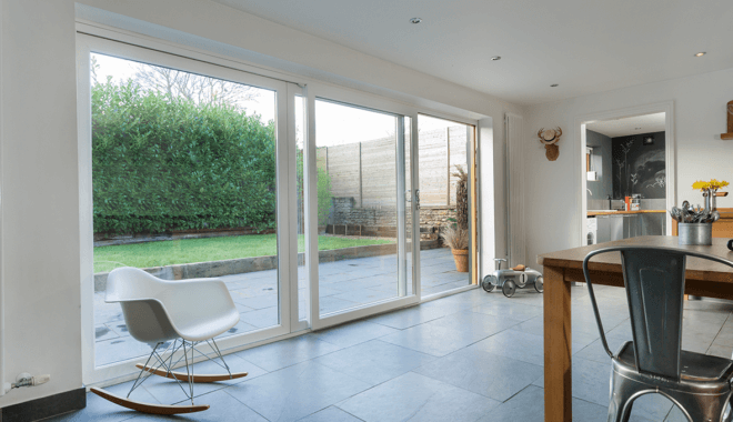 Modern white pvc sliding window