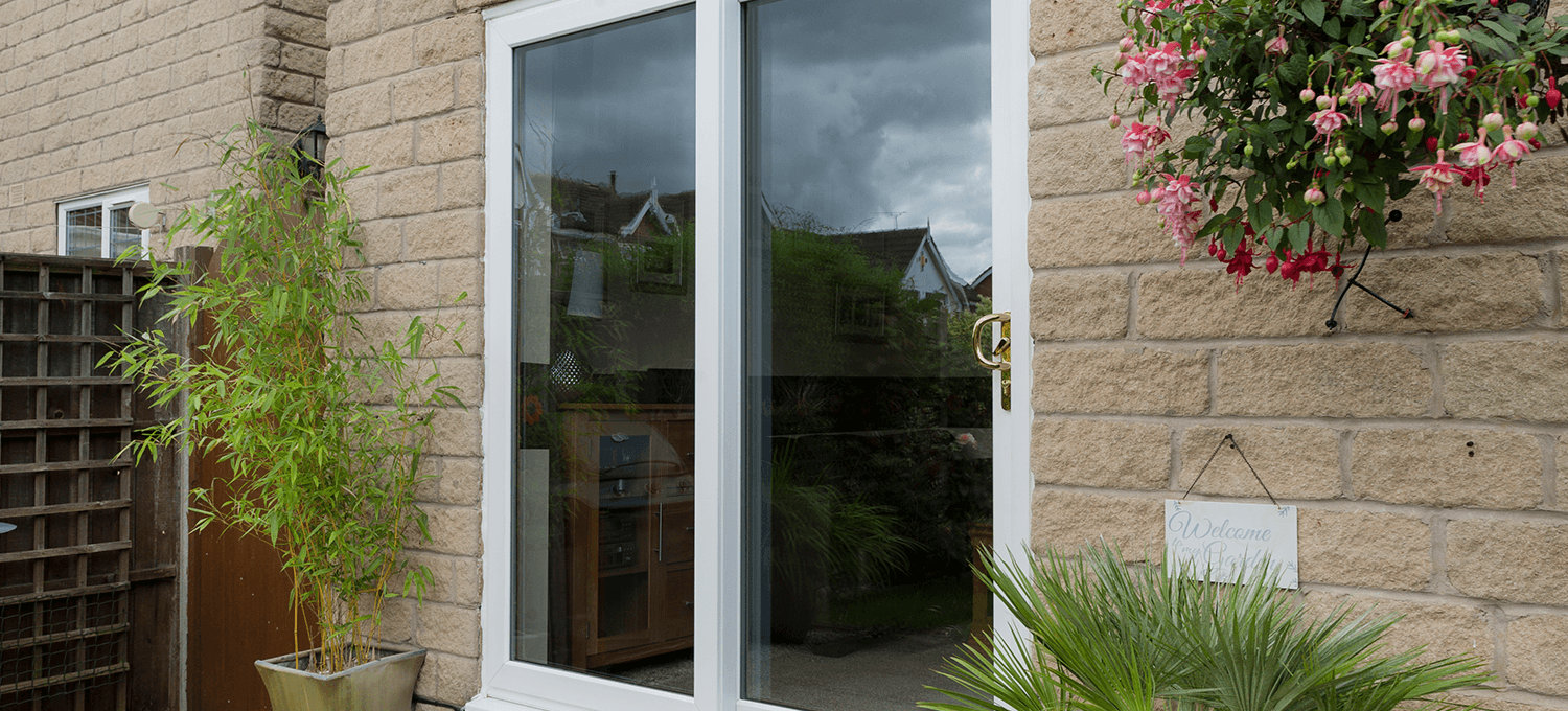 Small white sliding window