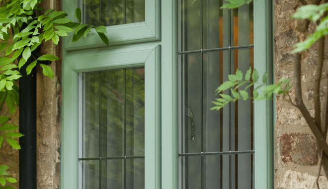 Green upvc window